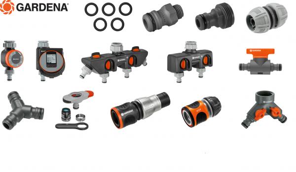 GARDENA® Verbinder Wasserstop Verteiler Adapter Kupplung etc