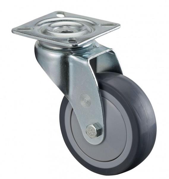 Apparaterolle A100.A85.075 Lenkrolle 60kg Traglast grau 75mm Raddurchmesser