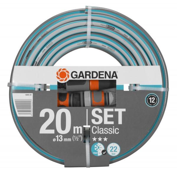 GARDENA Classic Schlauch, 13 mm (1/2''), 20 m, mit Systemteilen