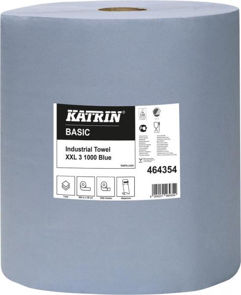 Putzpapier 3lagig/blau Rolle 38cm - 1000 Blatt