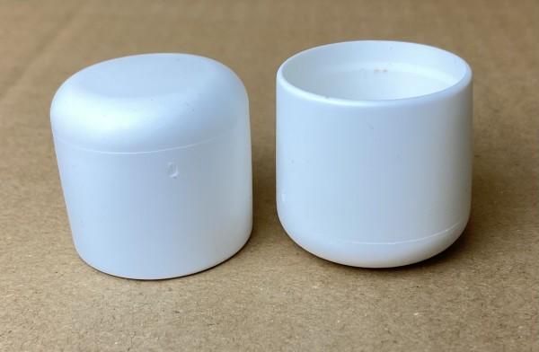 Stuhlbeinkappen Gleitkappen Rohrabdeckung aus hochwertigem Kunststoff Weiß