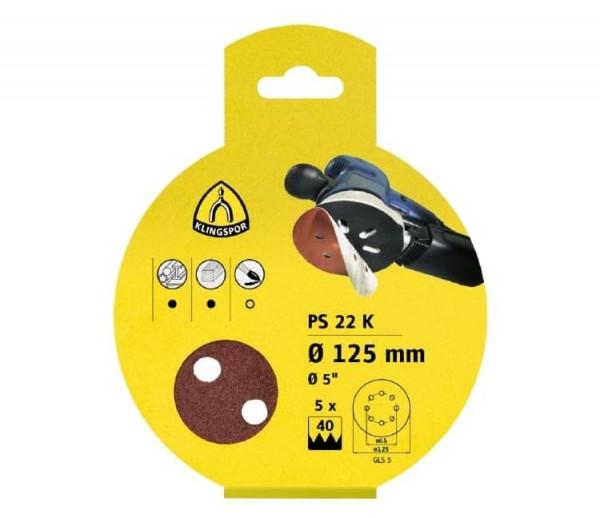 Schleifscheibe 115mm PS22K Kletthaftend Klingspor SB-Verpackt