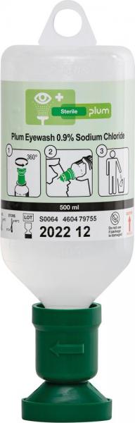 Augenspülflasche Plum 500ml gefüllt